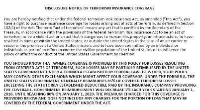 What Is Terrorism Insurance