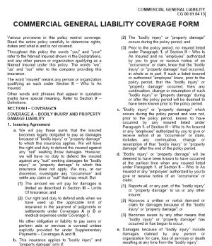 Who Is An Insured - Section 2 - Commercial General Liability Coverage Form